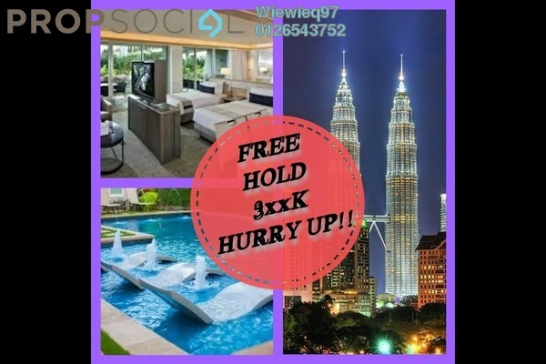 Serviced Residence For Sale in Chambers Kuala Lumpur, Chow Kit Freehold Unfurnished 1R/1B 396k