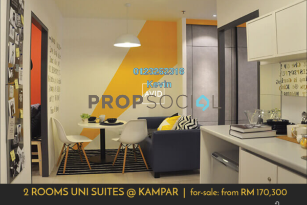 Serviced Residence For Sale in Uni Suites, Kampar Freehold Fully Furnished 2R/1B 170k