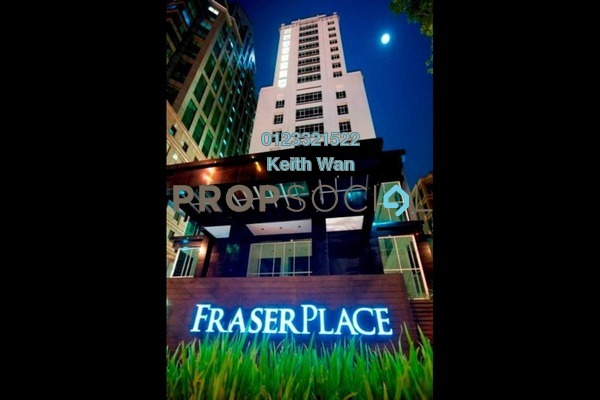 Condominium For Sale in Fraser Place, KLCC Freehold Fully Furnished 1R/1B 998k