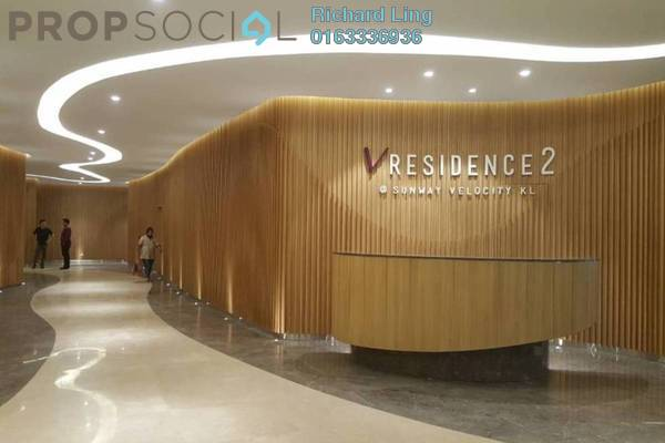Serviced Residence For Sale in V Residence 2 @ Sunway Velocity, Cheras Freehold Semi Furnished 3R/2B 1.36m