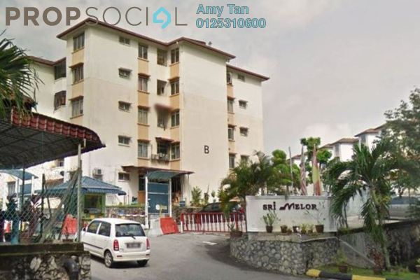Apartment For Sale in Sri Melor Apartment, Ukay Freehold Unfurnished 0R/0B 200k