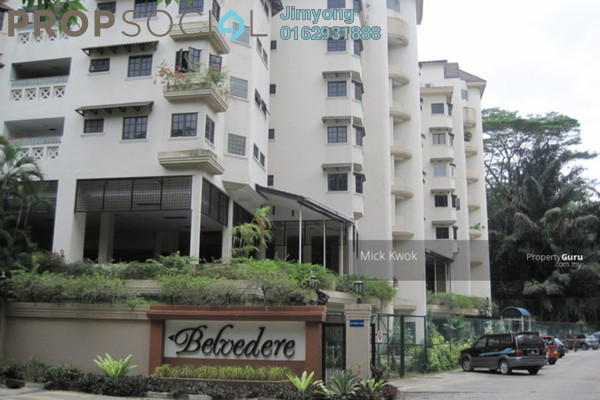 Condominium For Sale in Belvedere, Kenny Hills Freehold Fully Furnished 3R/2B 1.1m