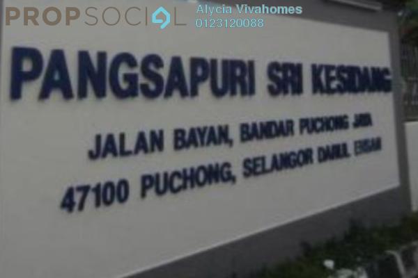 Apartment For Sale in Sri Kesidang Apartment, Bandar Puchong Jaya Freehold Semi Furnished 3R/2B 300k