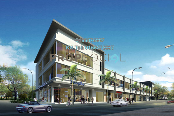 For Rent Shop at Taman Puchong Prima, Puchong Freehold Unfurnished 0R/8B 22k