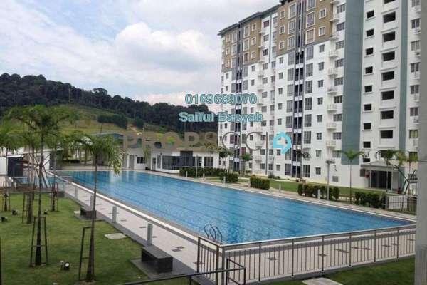 Apartment For Rent in Seri Baiduri, Setia Alam Freehold Semi Furnished 3R/2B 1.2k