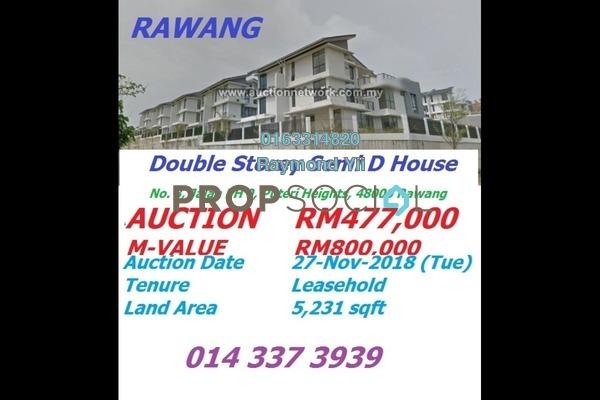 Semi-Detached For Sale in Saujana Rawang, Rawang Freehold Unfurnished 5R/5B 477k