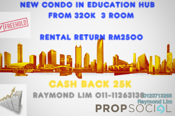 For Sale Condominium at Timur 5, Bandar Enstek Freehold Semi Furnished 3R/2B 320k