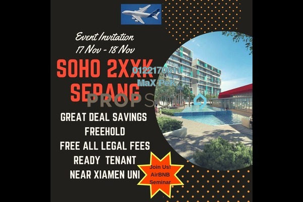 SoHo/Studio For Sale in Core SoHo Suites, Sepang Freehold Semi Furnished 1R/1B 251k