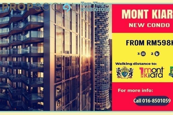 Condominium For Sale in Casa Kiara I, Mont Kiara Freehold Unfurnished 3R/2B 598k