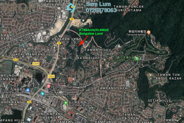 Land For Sale in Ukay Heights, Ukay Freehold Unfurnished 0R/0B 11.7m