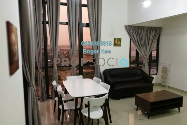 Duplex For Rent in Eclipse Residence @ Pan'gaea, Cyberjaya Freehold Fully Furnished 3R/2B 2k