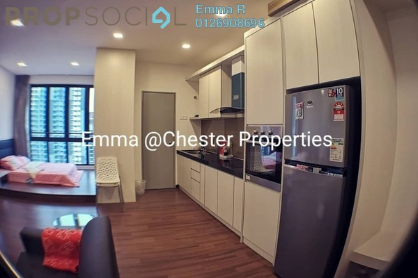 Condominium For Rent in Silk Sky, Balakong Freehold Fully Furnished 1R/1B 1.2k