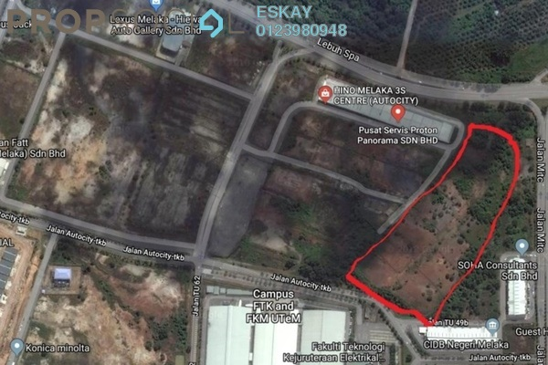 Land For Sale in Taman Tasik Utama, Ayer Keroh Freehold Unfurnished 0R/0B 25.3m