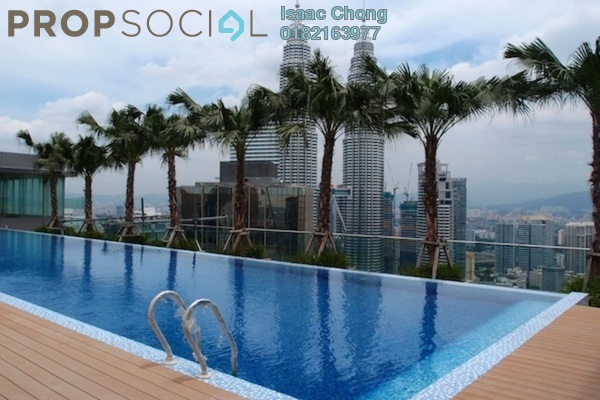 Condominium For Sale in Vipod Suites, KLCC Freehold Fully Furnished 2R/2B 1.8m
