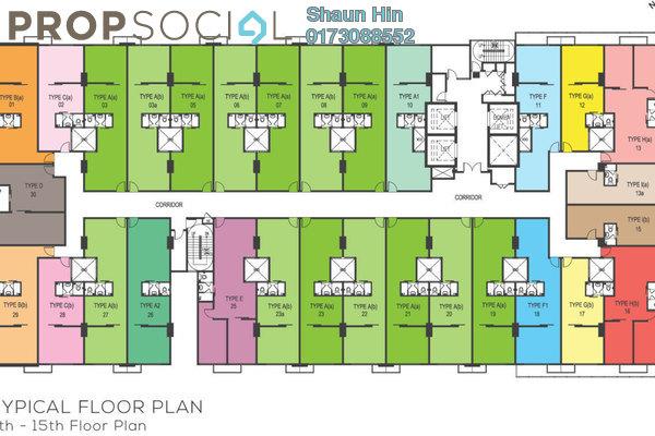 Condominium For Sale in Avenue D'Vogue, Petaling Jaya Freehold Semi Furnished 1R/1B 440k