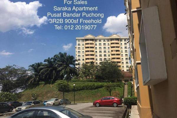 Apartment For Sale in Saraka Apartment, Pusat Bandar Puchong Freehold semi_furnished 3R/2B 380k