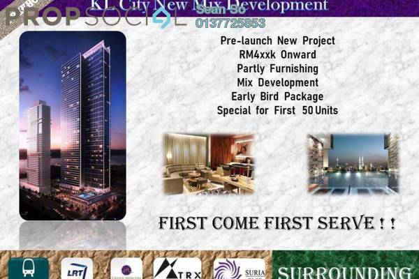 Serviced Residence For Sale in Trion @ KL, Kuala Lumpur Freehold Semi Furnished 2R/1B 475k