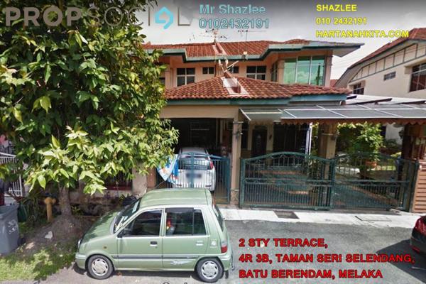 Terrace For Sale in Taman Sutera Wangi, Batu Berendam Freehold Unfurnished 4R/3B 310k