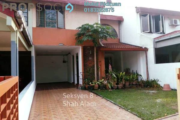 Terrace For Rent in Section 8, Shah Alam Freehold Semi Furnished 3R/4B 1.8k