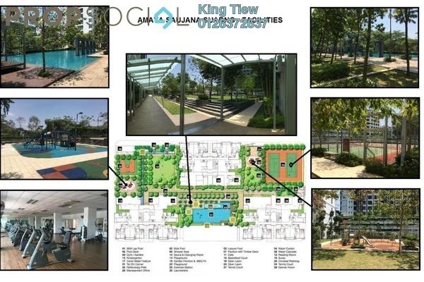 Condominium For Sale in Amaya Saujana, Saujana Freehold Fully Furnished 3R/3B 1.08m