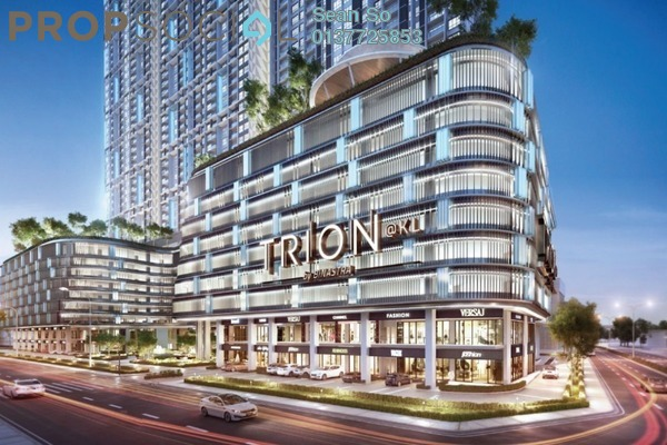 Serviced Residence For Sale in Trion @ KL, Kuala Lumpur Freehold Semi Furnished 2R/1B 470k