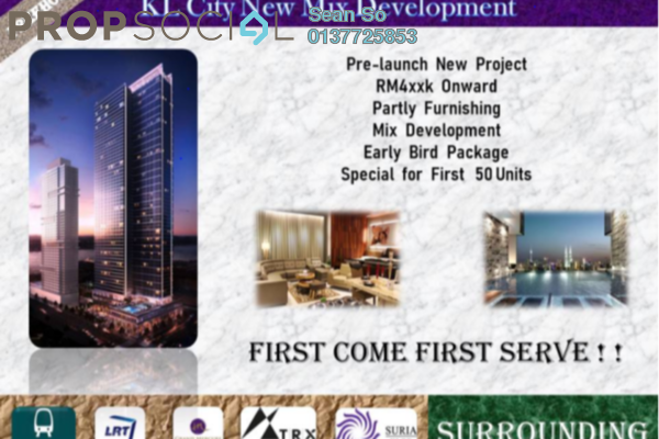 For Sale Serviced Residence at Trion @ KL, Kuala Lumpur Freehold Semi Furnished 2R/1B 472k