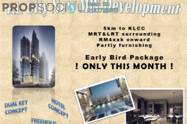 Serviced Residence For Sale in Trion @ KL, Kuala Lumpur Freehold Fully Furnished 2R/2B 548k