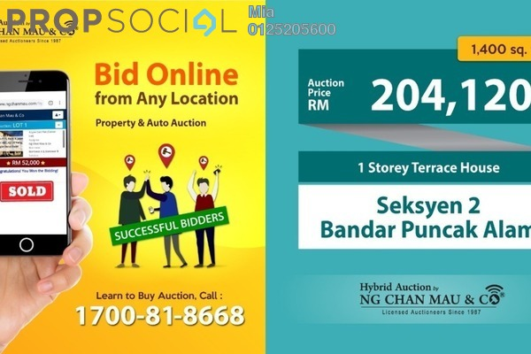 Terrace For Sale in Bandar Puncak Alam, Kuala Selangor Freehold Unfurnished 0R/0B 204k