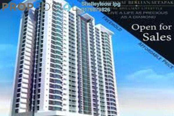 Condominium For Sale in Berlian Residence @ Setapak, Kuala Lumpur Freehold Semi Furnished 5R/2B 479k