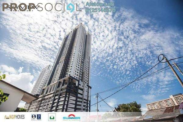 Condominium For Sale in Skyview Residence, Jelutong Freehold Semi Furnished 3R/2B 630k