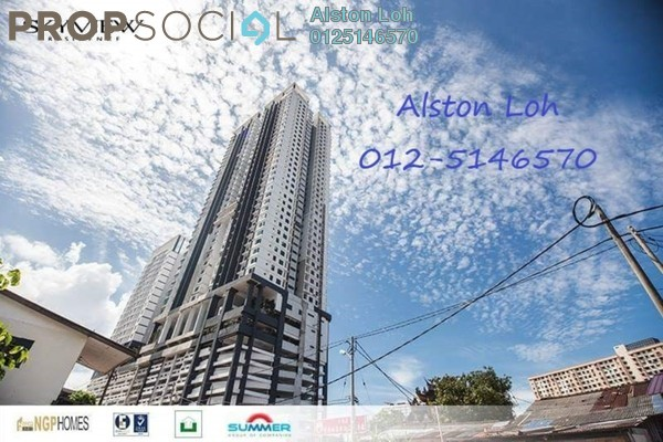 Condominium For Sale in Skyview Residence, Jelutong Freehold Semi Furnished 4R/3B 765k