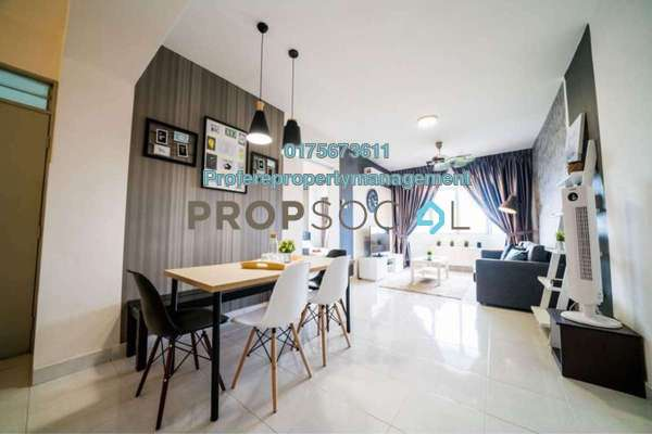 Condominium For Rent in Main Place Residence, UEP Subang Jaya Freehold Fully Furnished 3R/2B 2.4k