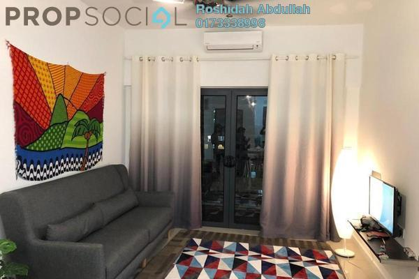 Serviced Residence For Rent in Suria Residence, Bukit Jelutong Freehold Fully Furnished 2R/2B 2k