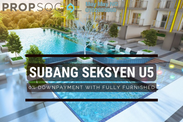 Serviced Residence For Sale in DK Impian, Shah Alam Leasehold Fully Furnished 2R/2B 315k