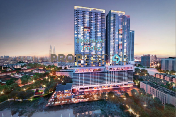 Serviced Residence For Sale in 28 Boulevard, Pandan Perdana Freehold Semi Furnished 0R/0B 299k