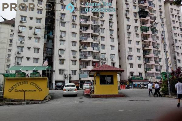 For Sale Apartment at Genting Court, Setapak Freehold Unfurnished 3R/2B 240k