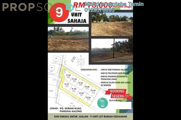Land For Sale in Kok Lanas, Ketereh Freehold Unfurnished 0R/0B 78k