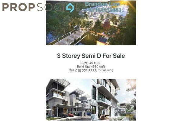 Semi-Detached For Sale in Alamaia Homes, Kota Kemuning Freehold Unfurnished 7R/8B 1.63m