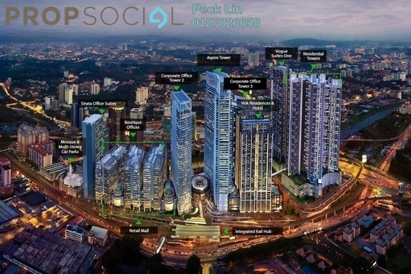 Serviced Residence For Rent in Vogue Suites One @ KL Eco City, Mid Valley City Freehold Fully Furnished 2R/2B 5k
