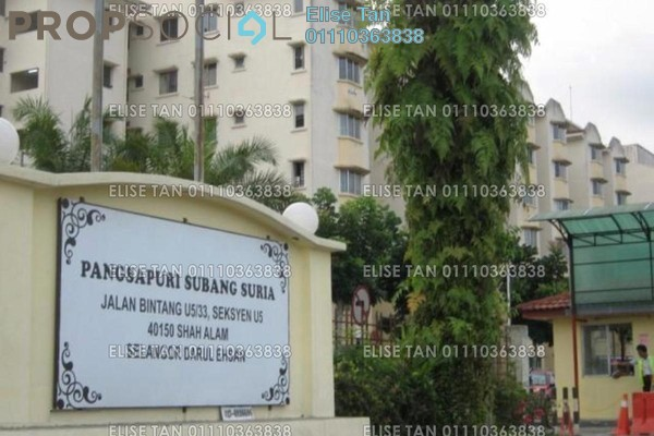 Apartment For Sale in Subang Suria, Subang Freehold Semi Furnished 3R/2B 153k
