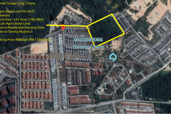 Land For Sale in Taming Mutiara, Bandar Sungai Long Freehold Unfurnished 0R/0B 15.9m