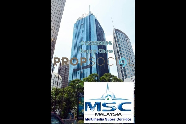 Office For Rent in JKG Tower, Chow Kit Freehold Semi Furnished 0R/0B 19.5k