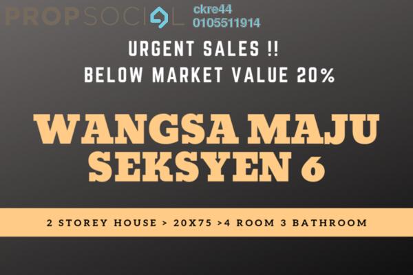 Terrace For Sale in Section 6 , Wangsa Maju Leasehold Unfurnished 4R/3B 639k