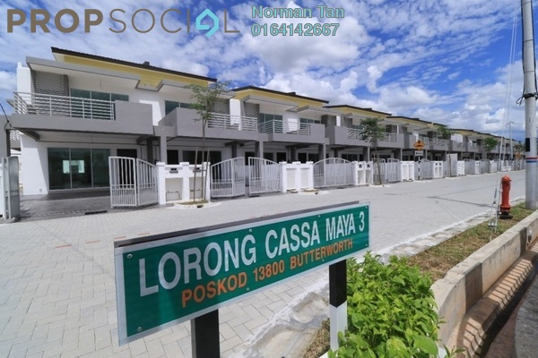 Terrace For Sale in Taman Cassa Maya, Sungai Dua Freehold Unfurnished 4R/3B 900k