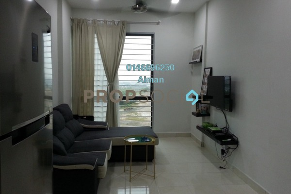 Apartment For Rent in Suria Ixora, Setia Alam Freehold Fully Furnished 3R/2B 1.5k