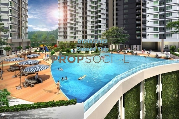 Condominium For Sale in The Stone, Paya Terubong Freehold unfurnished 3R/2B 358k