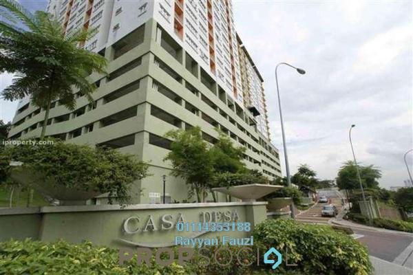 Condominium For Rent in Casa Desa, Taman Desa Freehold Semi Furnished 3R/2B 1.4k