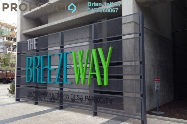 Condominium For Rent in The Breezeway, Desa ParkCity Freehold Semi Furnished 2R/2B 3.9k