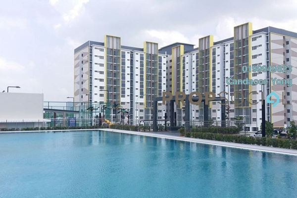 Apartment For Rent in Seri Pinang Apartment, Setia Alam Freehold semi_furnished 3R/2B 850translationmissing:en.pricing.unit