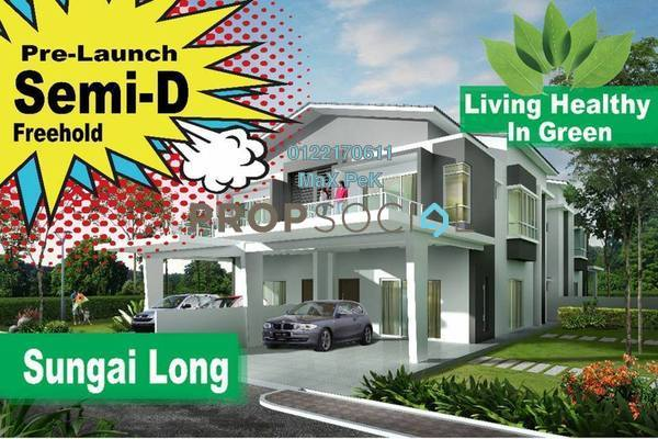 For Sale Semi-Detached at Indah Height, Bandar Sungai Long Freehold Semi Furnished 7R/7B 2.28m